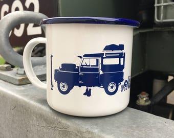 Land Rover Series 1 Enamel Mug