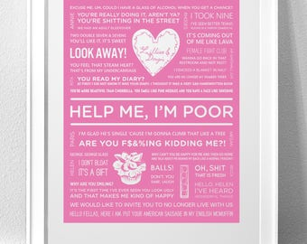 "BRIDESMAIDS, ""Help me, I'm Poor"" Typography Print"