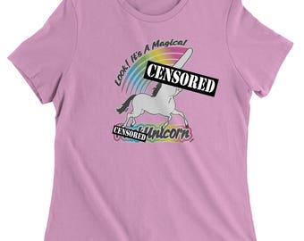 Look, It's A Magical F*ck Unicorn Womens T-shirt