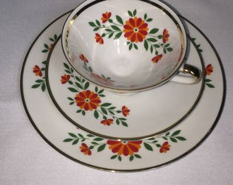 Vintage Winterling Bavaria Teacup Trio