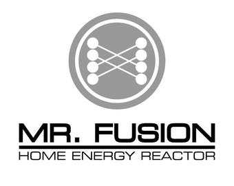 Back to the Future Mr Fusion Decal for Ipad/Laptops/etc...