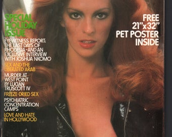 Mature Vintage Penthouse Magazine Mens Girlie Pinup : January 1979 VG+ White Pages, Intact Centerfold MISSING POSTER