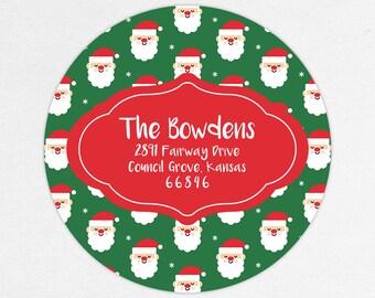 24 HOUR DIGTIAL FILE, Santa Return Address Labels, Christmas Return Address Labels, Holiday Return Address Labels, Printable Address Labels
