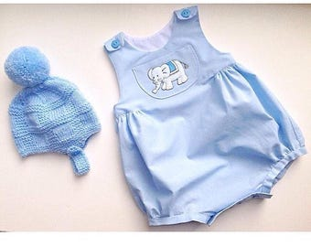 Baby boy / girl bubble romper traditional style baby gift summer romper