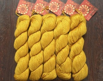 Mirasol TUPA Yarn Daffodil 8.99 +1.25ea to Ship - DK Silk Merino Blend - Lasting Color, Sheen & Form. 5 Free Tupa Patterns Shown. MSRP 12.00