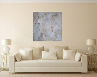 Abstract Painting Original Gray Abstract Art Minimalist Monochrome Art Contemporary Wall Decor The World Sky View Painting