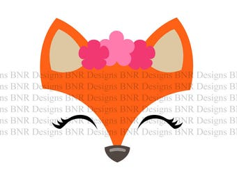 Fox SVG, DXF File, Cricut File, Cameo File, Silhouette File