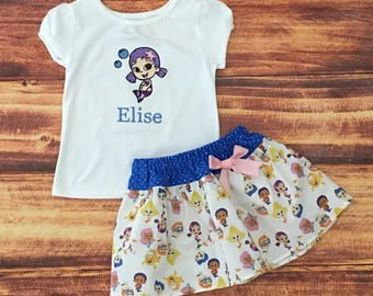 Bubble Guppies Birthday Outfit, Bubble Guppies Oona, Bubble Guppies Dress, Bubble Guppies Birthday Shirt, Bubble Guppies, Oona, Handmade