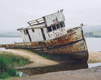 Boat Photography, Boat Picture, Point Reyes, Fishing Boat, Point Reyes Art, California, Boat Print, Ocean Photography, Fine Art Photography