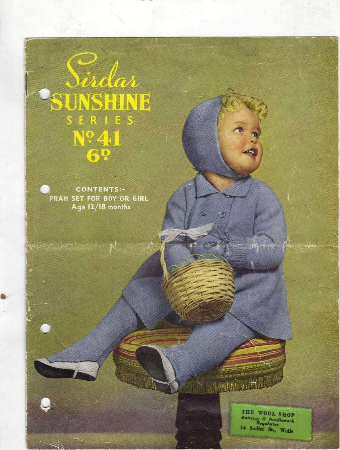 ALMOST FREE Instant Download PDF Vintage Knitting Pattern Sirdar 41 ...