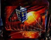 Doctor Who / Tardis / Spray Paint on Canvas