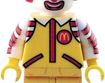Ronald McDonald custom minifigure 100% McDonalds! Lego Compatible