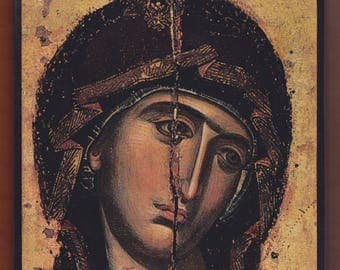 Panagia,Virgin Mary. Christian orthodox icon.FREE SHIPPING