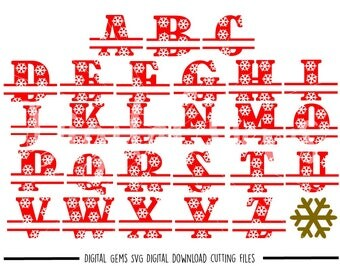 Snowflake Alphabet svg / dxf / eps / png files. Digital download. Compatible with Cricut and Silhouette machines. Small commercial use ok.
