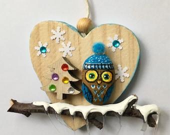 Cute owl , christmas ornament