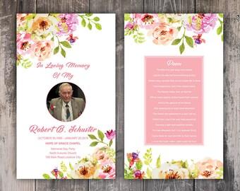 Custom Funeral Prayer Card Template
