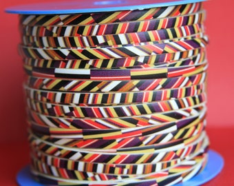 MADE in EUROPE 24'' multi color leather cord, 5mm flat leather cord, 5mm flat leather cord (vm5muletni)