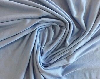 Solid Jersey Knit - Sky Blue - Rayon & Lycra Blend