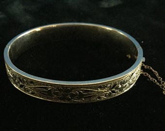 Antique 1/20 10K Gold Filled Bracelet Talle D'Epargne
