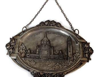 "french vintage religious art deco plaque ""Lisieux"""