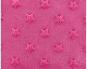Coupon pink minkee velvet embossed star