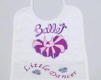Dance ballet baby bib.