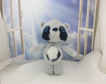 Crochet Animal Crochet raccoon Plush | Raccoon Crochet Animal | Amigurumi Fox | Plush Raccoon Stuffed Animal  | Crochet Amigurumi