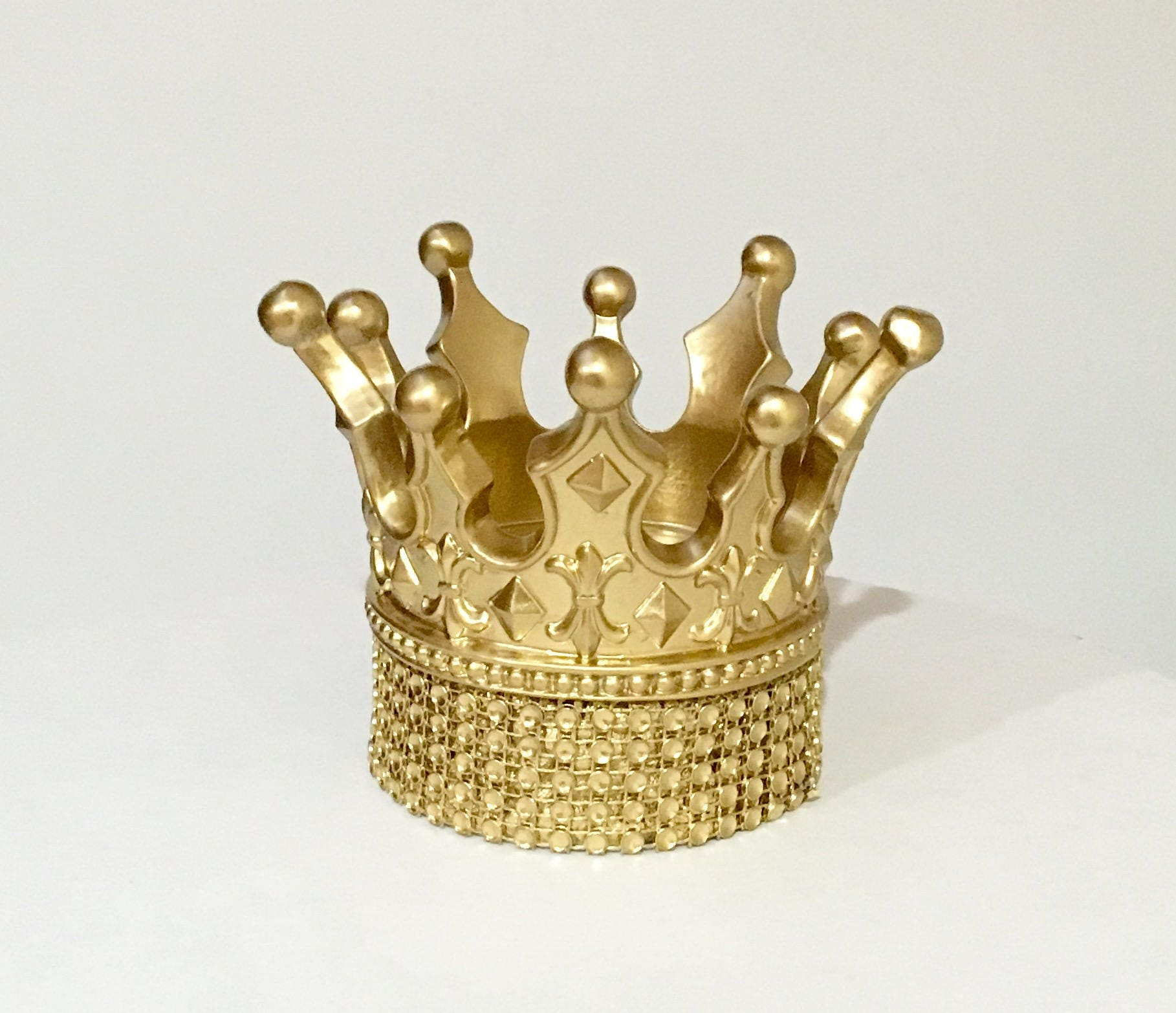 SALE Gold Crown Cake Topper for your Princess Cakes or