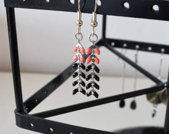 Earrings ears bi - color