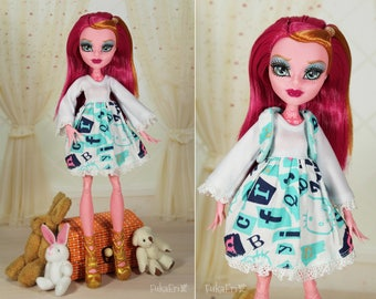 Clothes/Outfit/Dress +  Waistcoat for Monster High dolls
