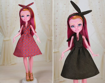 8 COLORS! Clothes/Outfit/Dress +  Headband for Monster High dolls