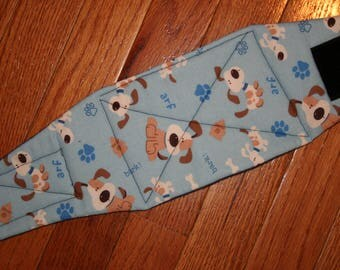 Belly Band, Male Dog Diaper, NEW DESIGN quilted for training, incontinence, marking, tapered ends - Bark - by angelpuppi