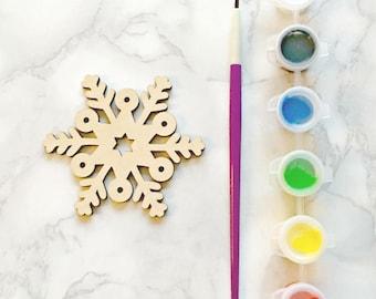Snowflake Craft Kit, Children's craft kit, kids activity kit, Christmas craft, stocking filler, secret santa, Christmas eve, glitter, sequin