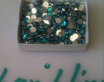 5mm aqua rhinestones