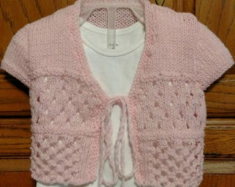Pink summer knit sweater infant size 6-9 months