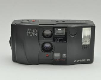 Olympus AF-10 Twin Point and Shoot Camera
