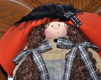 "Little Souls Doll, Little Souls Swanky, Little Souls Gianna 24"", Gretchen Wilson, Cloth Dolls, One-Of-A-Kind, Dolly Mama, Ooak"