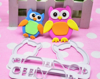 Owl Cake Fondant Molds Cute Cartoon Animals Design DIY First Birthday Food-grade Silicone 3D Cake Fondant Molds Fondant Baking Tool