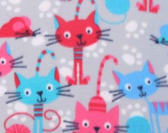 Kitties & Mice ~ No Sew Hand Tied Fleece Blanket