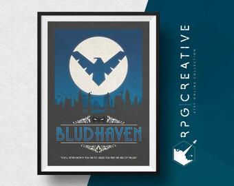 Nightwing Print : Gotham / Bludhaven City - DC Comics