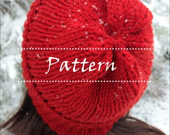 The Blitzen Hat Pattern / Knitted Hat / Winter Hat / Knit Hat Pattern / Easy Knit Hat