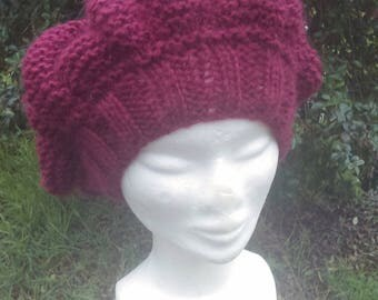 Hat knitted Handmade wool and acrylic