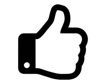 Facebook Like Thumb Sticker, social media, Facebook, thumbs up, like, cool