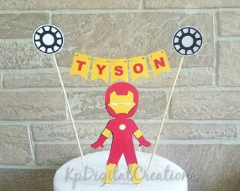Iron man cake topper, Avengers cake topper, Superhero birthday, Superhero cake topper, Iron man birthday party, iron man baby shower