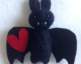 Black Vampire Love Bat Gift