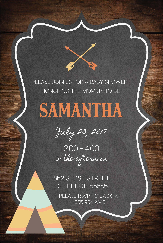 Baby Shower Invitation|Rustic Wood Chalkboard| Baby Boy Shower ...