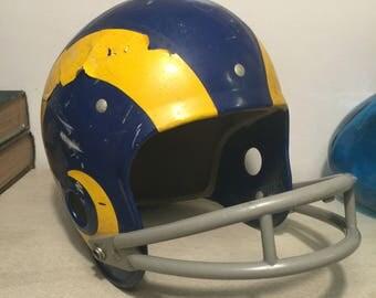 Vintage Youth Rawlings Rams Football Helmet NFL Decor Memorabilia 1970s