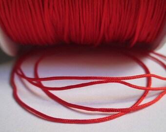 5 m 0.8 mm red nylon string