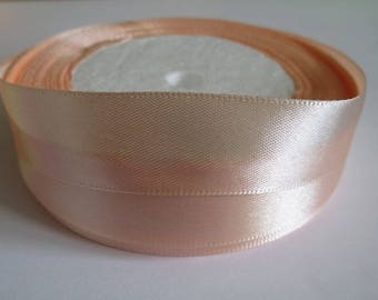 10 m 20mm peach colored satin ribbon