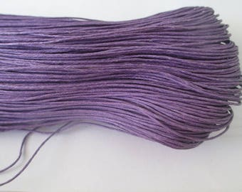 20 meters waxed cotton thread purple 0.7 mm